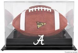 Alabama Crimson Tide Black Base Logo Football Display Case with Mirror Back - Mounted Memories