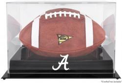 Alabama Crimson Tide Black Base Logo Football Display Case with Mirror Back