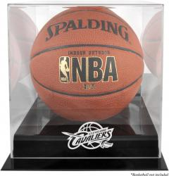 Cleveland Cavaliers Blackbase Team Logo Basketball Display Case with Mirrored Back - Mounted Memories