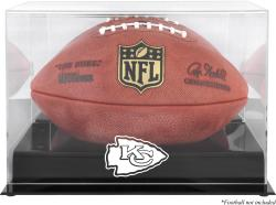 Kansas City Chiefs Black Base Football Display Case