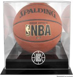 Los Angeles Clippers Blackbase Team Logo Basketball Display Case with Mirrored Back