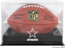 Dallas Cowboys Black Base Football Display Case