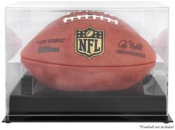 Black Base Acrylic Football Display Case with Mirror Back