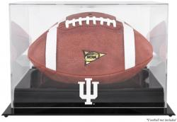 Indiana Hoosiers Blackbase Logo Football Display Case with Mirror Back - Mounted Memories