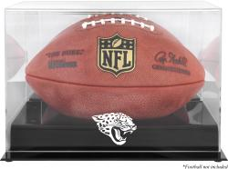 Jacksonville Jaguars Black Base Football Display Case with Mirror Back - Mounted Memories