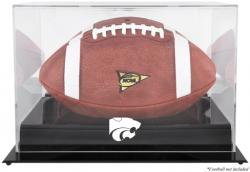 Kansas State Wildcats Black Base Logo Football Display Case with Mirror Back - Mounted Memories