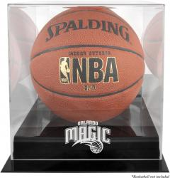 Orlando Magic Blackbase Team Logo Basketball Display Case with Mirrored Back
