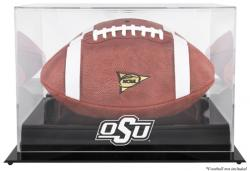 Oklahoma State Cowboys Blackbase Logo Football Display Case with Mirror Back - Mounted Memories