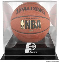 Indiana Pacers Blackbase Team Logo Basketball Display Case with Mirrored Back