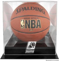 Phoenix Suns Blackbase Team Logo Basketball Display Case with Mirrored Back