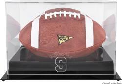 Syracuse Orange Black Base Logo Football Display Case with Mirror Back