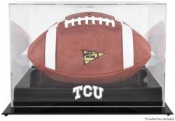 TCU Horned Frogs Black Base Logo Football Display Case with Mirror Back
