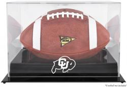 Colorado Buffaloes Black Base Logo Football Display Case with Mirror Back - Mounted Memories