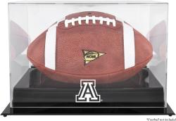 Arizona Wildcats Black Base Logo Football Display Case with Mirror Back - Mounted Memories
