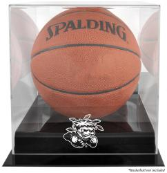 Wichita State Shockers Black Base Basketball Display Case with Mirrored Back - Mounted Memories