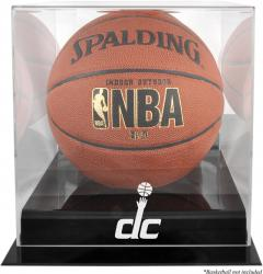 Washington Wizards Blackbase Team Logo Basketball Display Case with Mirrored Back - Mounted Memories