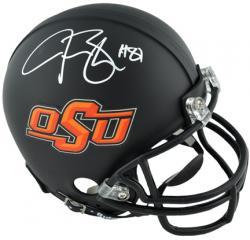 Justin Blackmon Oklahoma State Cowboys Autographed Mini Helmet