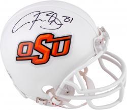 Justin Blackmon Oklahoma State Autographed Cowboys Riddell Mini Helmet