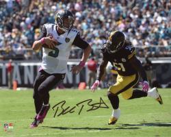 "Blake Bortles Jacksonville Jaguars Autographed 8"" x 10"" Scramble vs Pittsburgh Steelers Photograph"