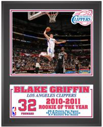 """Los Angeles Clippers Blake Griffin Sublimated 12"""" x 15"""" Plaque"""