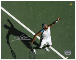 """James Blake Autographed 8"""" x 10"""" Tennis Serve Action Photograph"""
