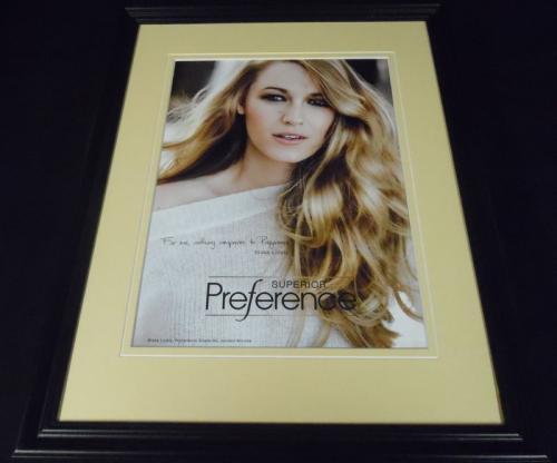 Blake Lively 2015 Superior Preference 11x14 Framed ORIGINAL Advertisement B