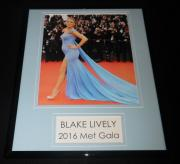 Blake Lively 2016 Met Gala Framed 11x14 Photo Display