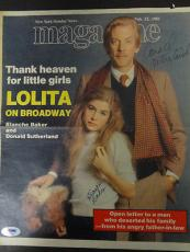Blanche Baker Donald Sutherland Signed 11x12 Magazine Cover Auto PSA/DNA X77820