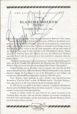 Blanche Thebom Signed Vintage Program JSA