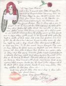 Blaze Starr Original Signed+hand Written Letter+coa     John F. Kennedy Content