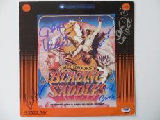 Blazing Saddles Multi Signed Laser Disc Cover Mel Brooks Wilder + 4 (PSA/DNA)