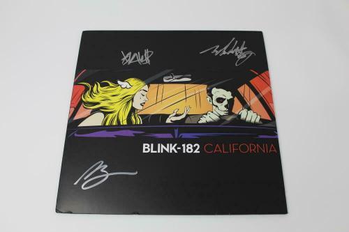 Blink-182 Signed Autograph Album Vinyl Record - California, Travis Barker