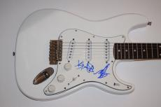 BLINK 182 Signed Autograph Electric Guitar Travis Barker & Mark Hoppus BAS COA