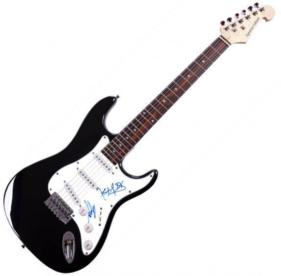Blink 182 Travis + Mark Autographed Signed Guitar AFTAL UACC RD COA