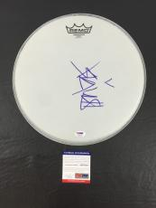 Blink 192 Travis Barker Signed Auto Blink-182 Remo Drumhead Psa/dna Psa Coa Wow