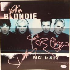 "BLONDIE Debbie Harry +3 Signed Autographed ""NO EXIT"" Poster Flat PSA/DNA #I53408"