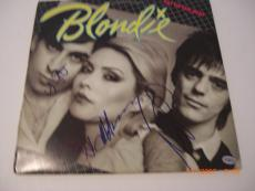 Blondie Debbie Harry,clem Burke,chris Stein Td/holo Signed Record Album