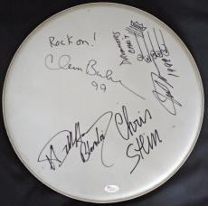 """BLONDIE full Band autographed/signed 15"""" Remo Drum Head- Full JSA Letter #X81063"""