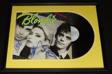 Blondie Group Signed Framed 1979 Eat to the Beat Record Album Display B