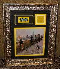 BLONDIE signed autographed by ALL 4 AUTO AMERICAN LP record FRAMED PSA DNA COA