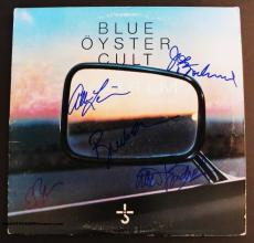 "Blue Oyster Cult Autographed ""Mirrors"" Album Signed by 5 PSA DNA COA"