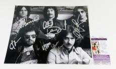 Blue Oyster Cult Signed 11 x 14 B & W Photo Pose #2 5 JSA Autos