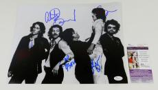 Blue Oyster Cult Signed 11 x 14 B & W Photo Pose #3 5 JSA Autos