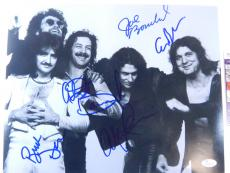 Blue Oyster Cult Signed 11 x 14 B&W Photo Pose #1 5 JSA Autos