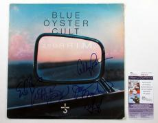 Blue Oyster Cult Signed LP Record Album Mirrors w/ 5 JSA AUTOS