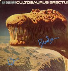 Blue Oyster Cult Signed X2 Cultosaurus Erectus Album Cover UACC RD COA AFTAL