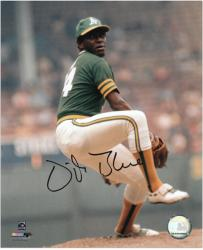 "Vida Blue Oakland Athletics Autographed 8"" x 10"" Pitching Photograph - Mounted Memories"
