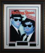 Blues Brothers unsigned Engraved Signature Series Collection 26x32 Custom Leather Framed Blues Brothers (entertainment/photo)