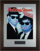 Blues Brothers unsigned Rolling Stone Cover 16x20 Photo Custom Premium Leather Framed w/Dan Aykroyd & John Belushi (entertainmen