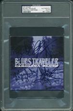 Blues Traveler (4) Popper, Wilson, Hill & Kinchla Signed Cd Cover PSA Slabbed